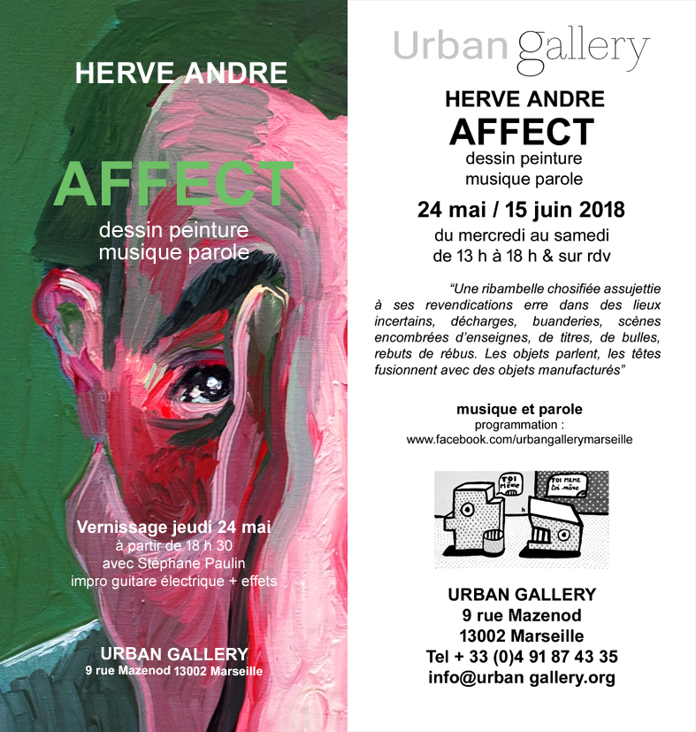 Exposition Herve Andre Urban Gallery 2018